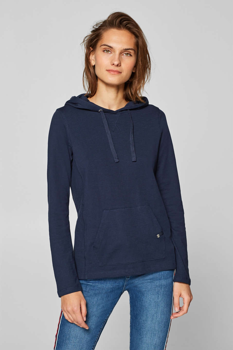 Esprit - 100% cotton hoodie containing organic cotton