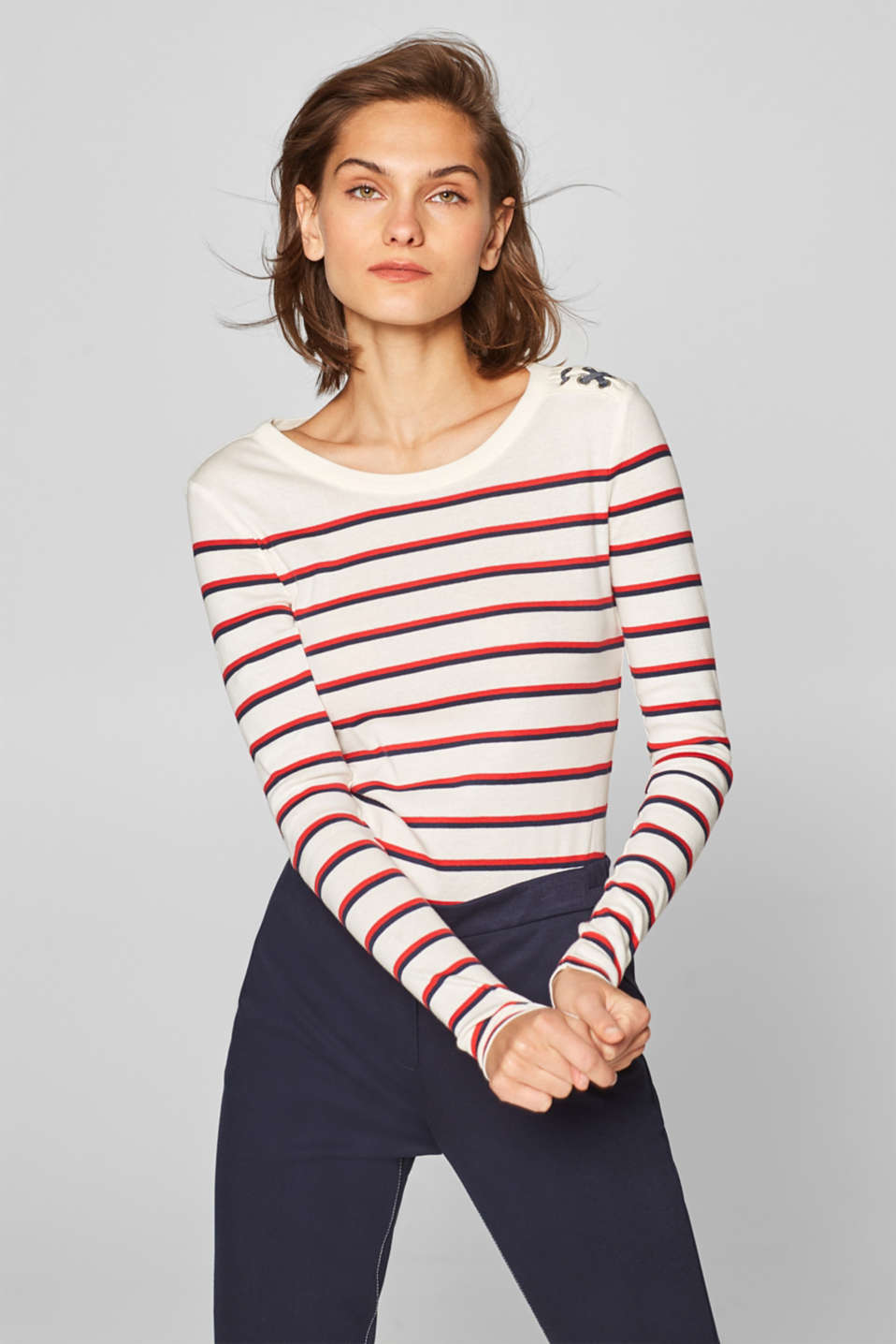 Esprit - Long sleeve top with organic cotton, 100% cotton