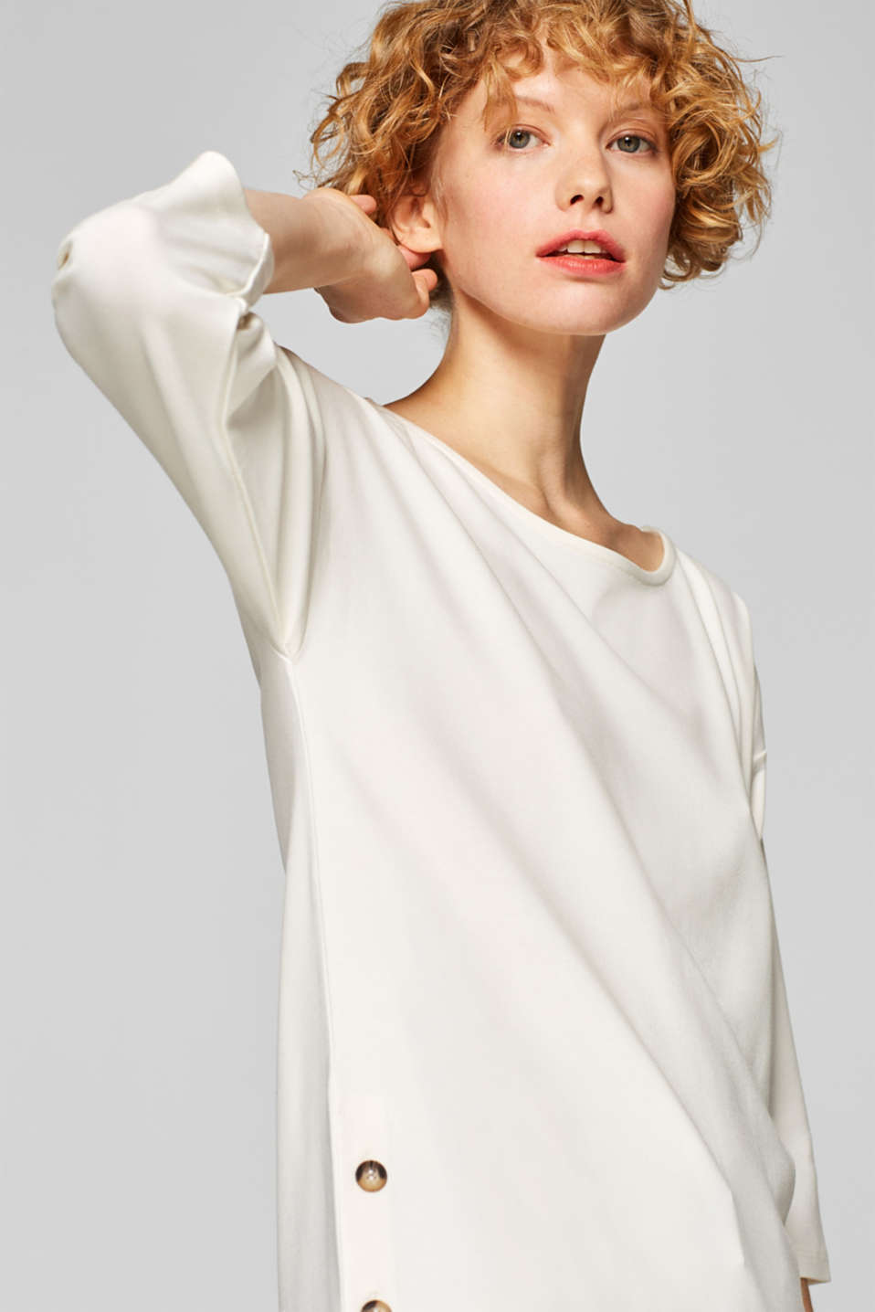 Esprit - Stretch top with decorative button plackets