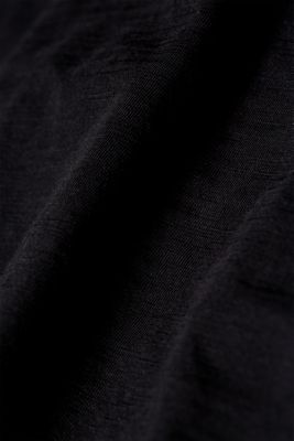 Slub jersey long sleeve top, 100% cotton