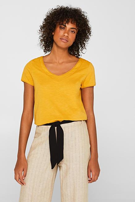 7b952290017e3 Camiseta de cuello en pico con algodón ecológico