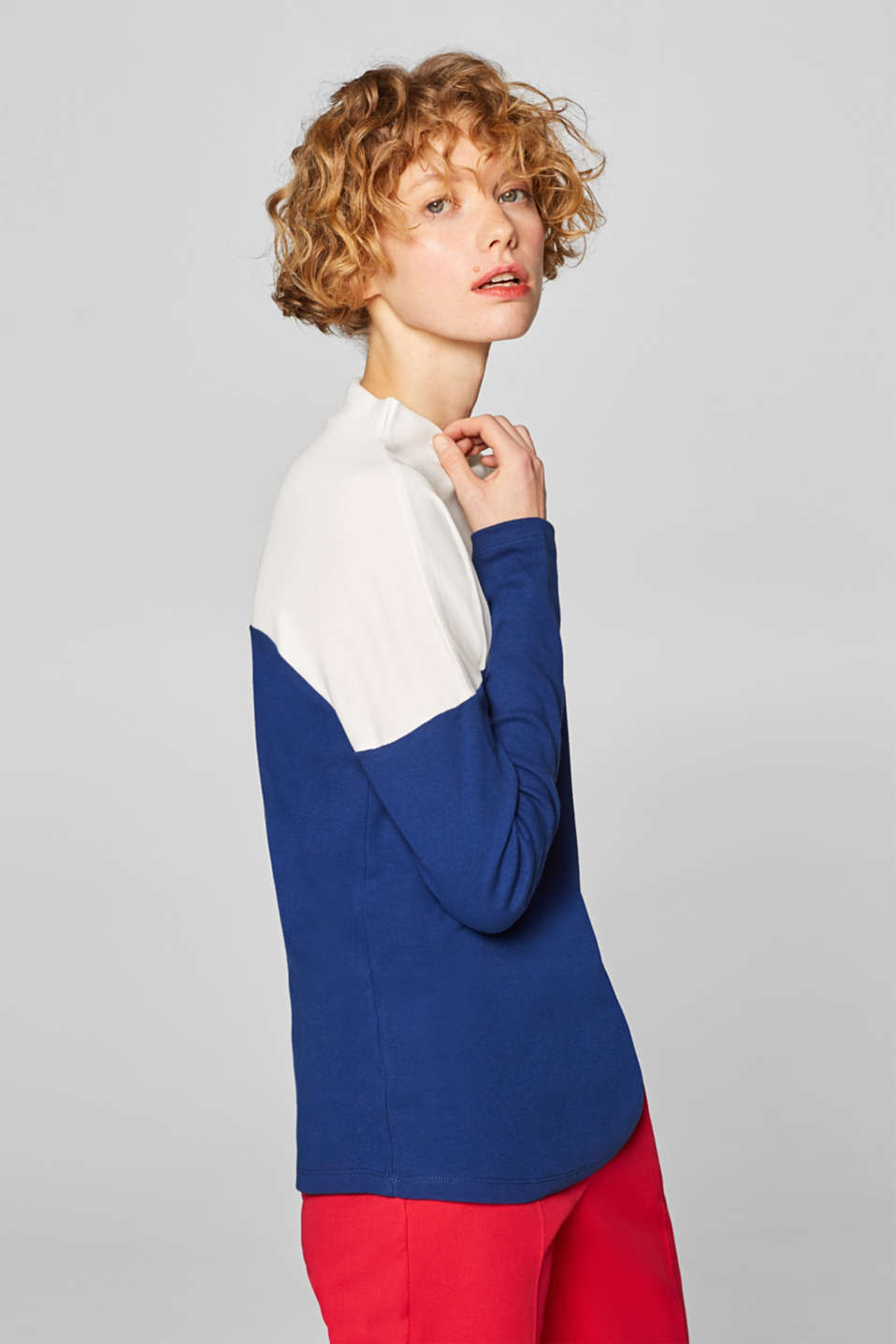 Esprit - Long sleeve turtleneck, 100% cotton