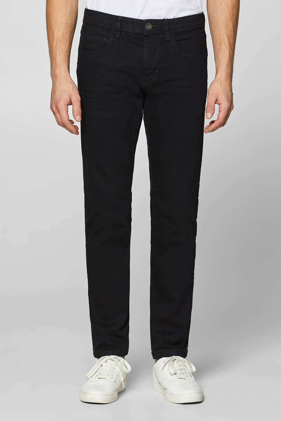 Esprit - Stretch jeans with a black dye effect