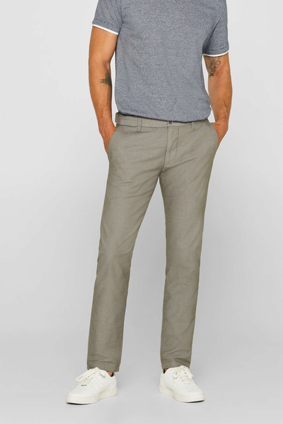 Esprit - Stretch-Pants aus Baumwoll-Mix