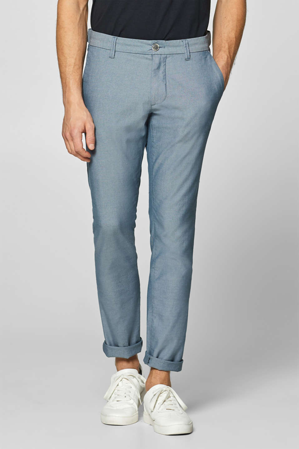 Esprit - Stretch trousers made of blended cotton