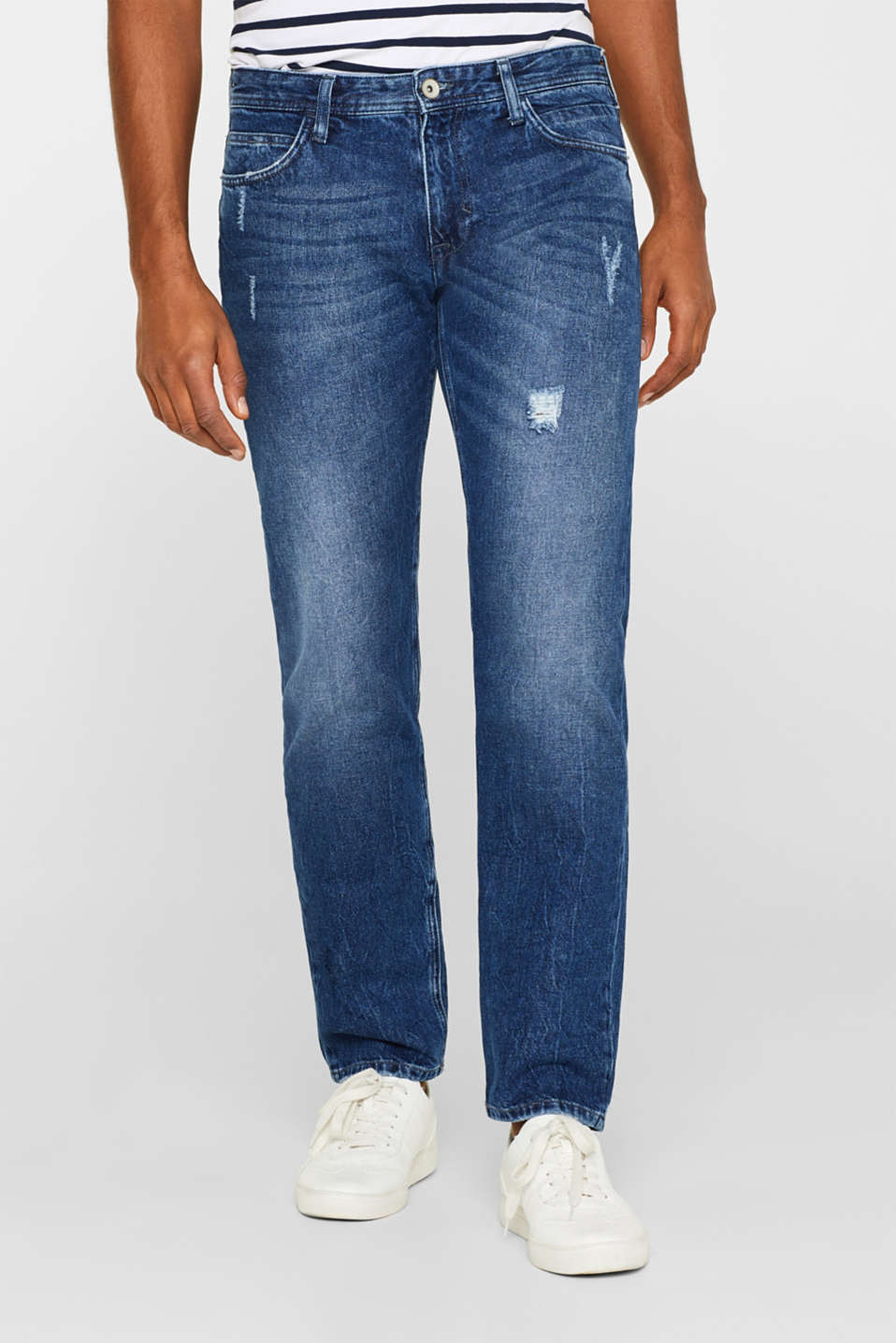 Esprit - Non-stretch jeans in 100% cotton