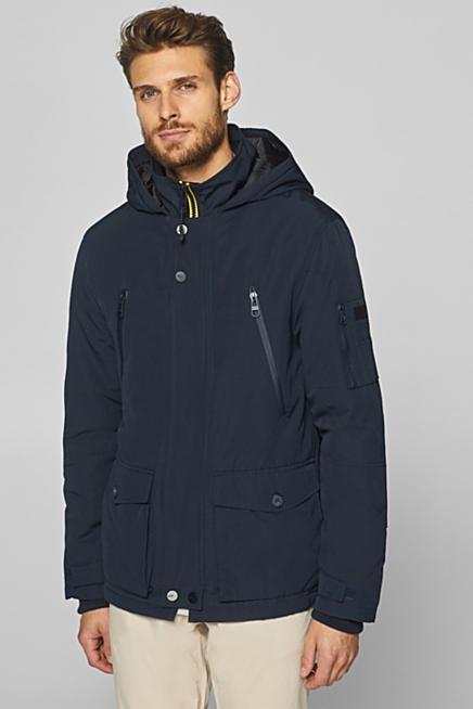 Mantel blau braun