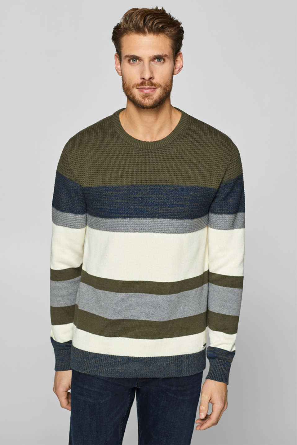 Esprit - Block stripe jumper, 100% cotton