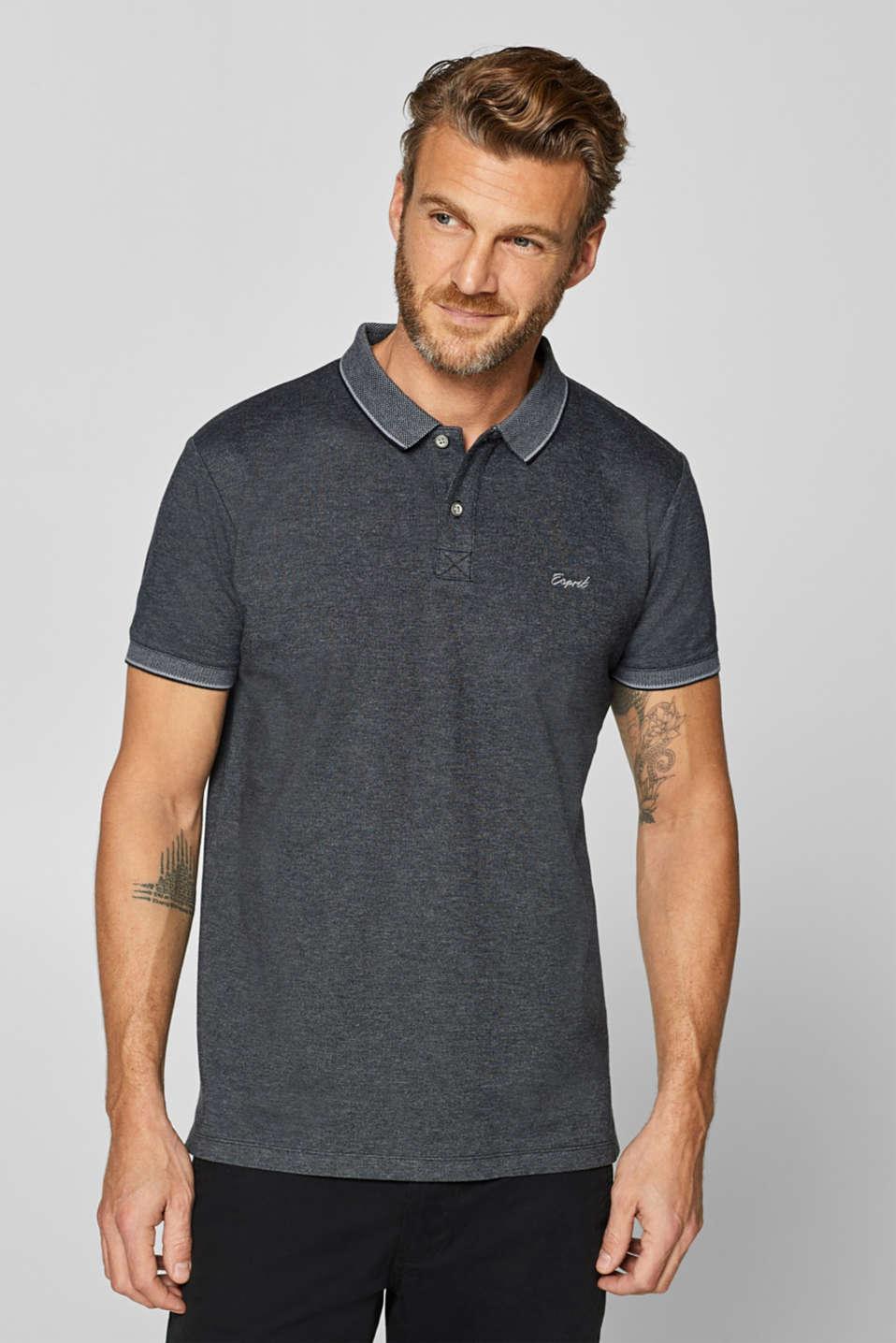 Piqué polo shirt in blended cotton