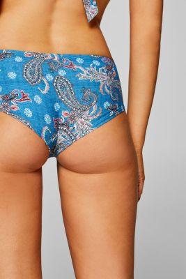 Paisley print hipster shorts