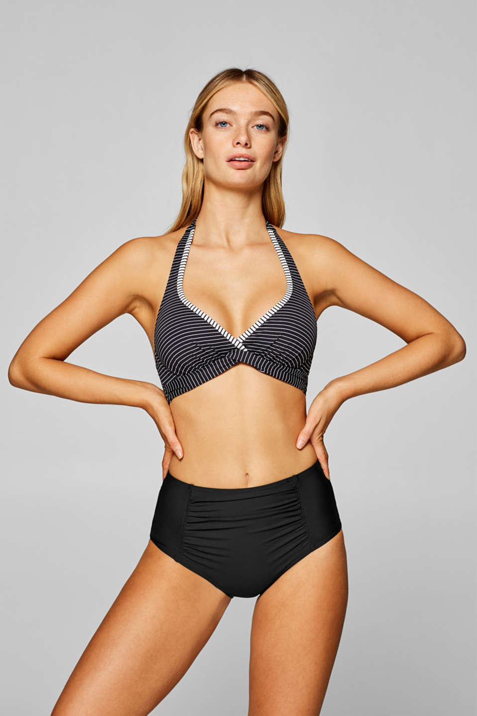 Esprit - High waist-bukser med shaping-funktion