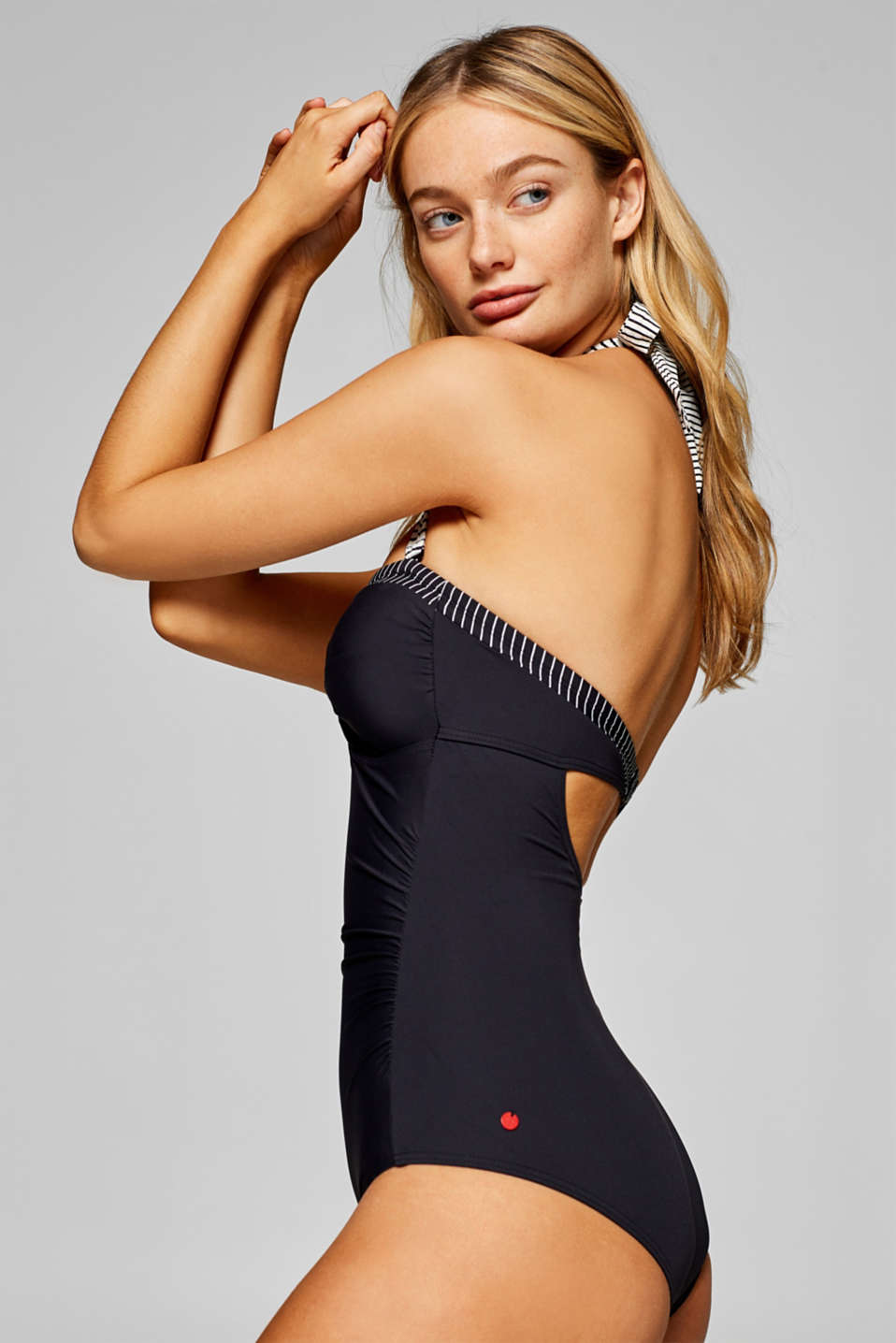 Esprit - Shaping swimsuit with detachable halterneck ties