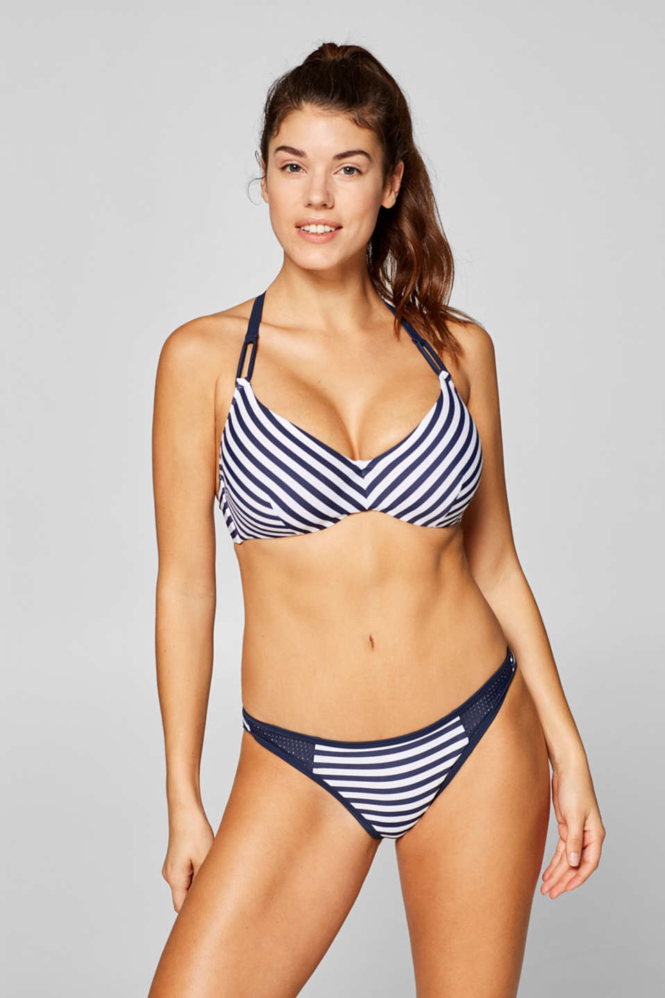 Esprit - Briefs with stripes and an openwork pattern