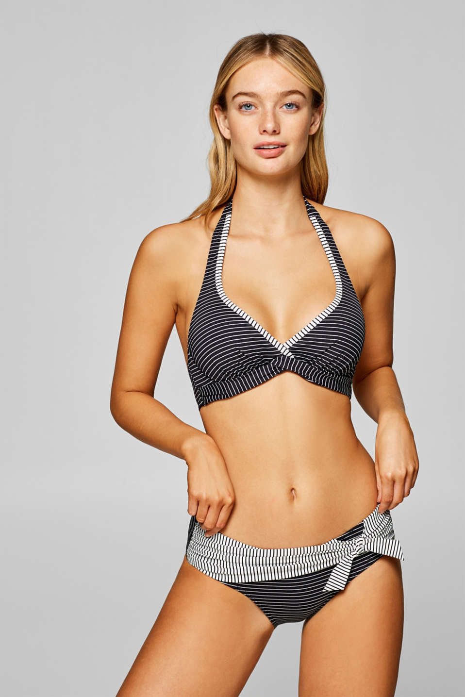 Esprit - Unpadded halterneck top with underwire