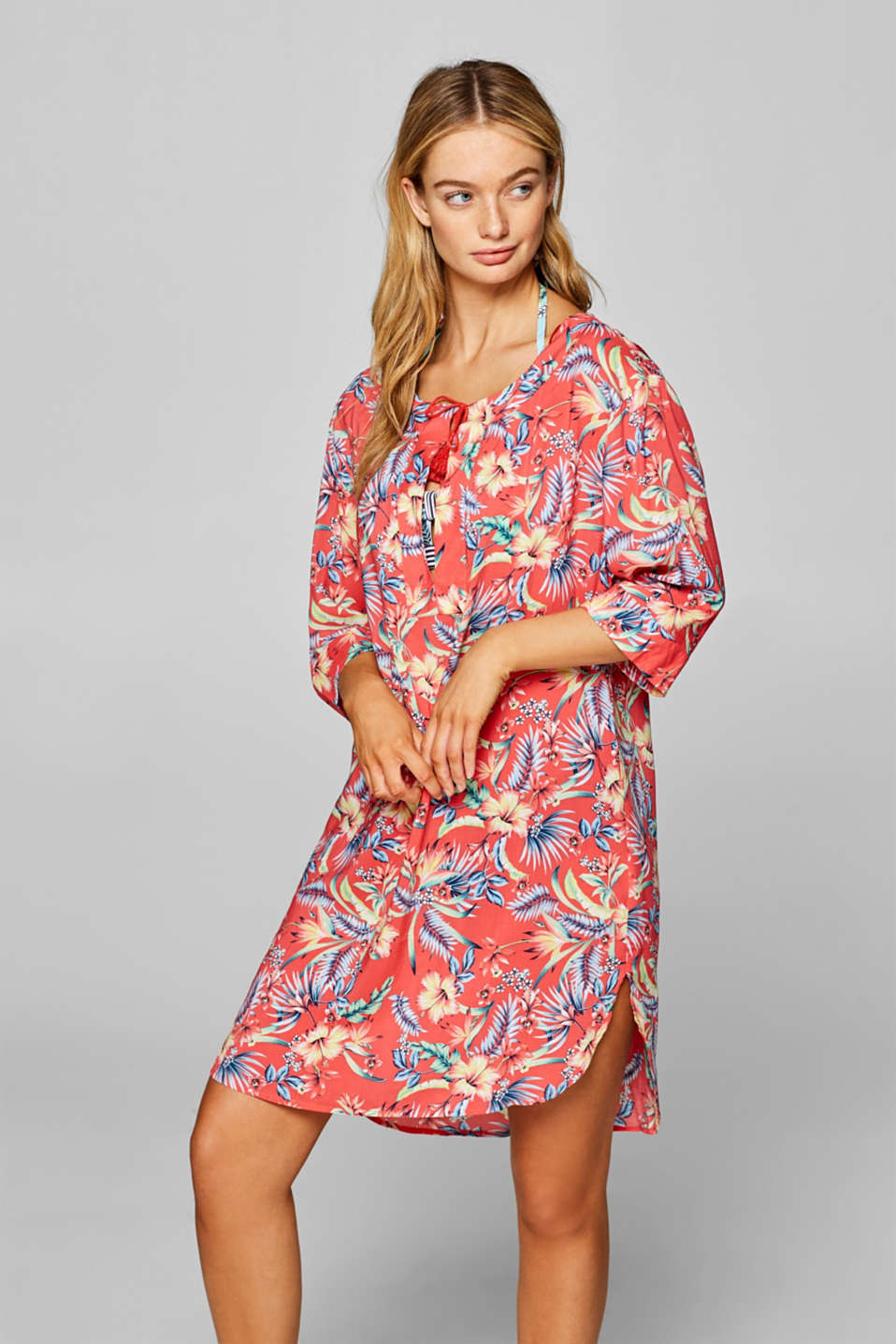 Esprit - Tunic dress with a colourful floral print