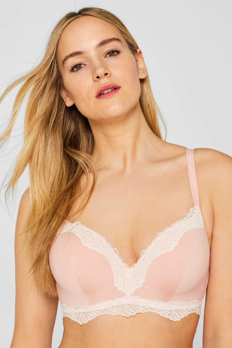 Bras with wire, LIGHT PINK, detail image number 4