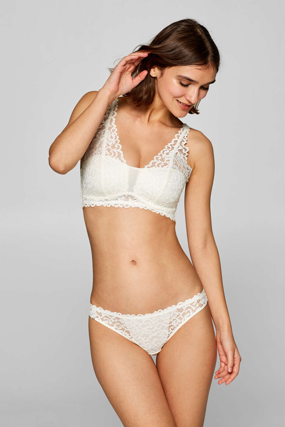 Esprit - Padded wireless bra in lace