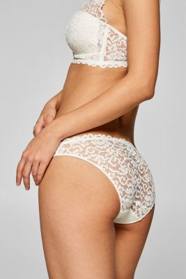 Hipster briefs in ornamental lace