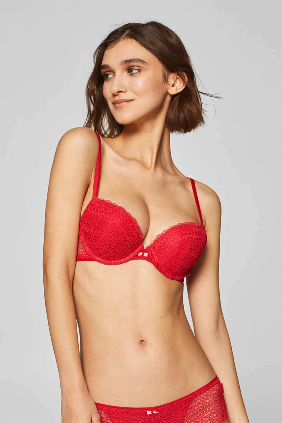 Esprit - Push-up bra in graphic lace