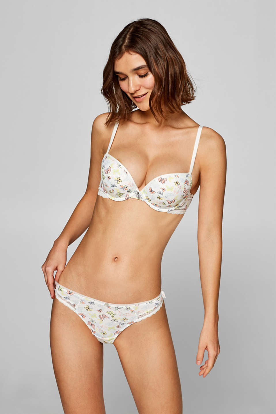Esprit - Hipster thong with a butterfly print