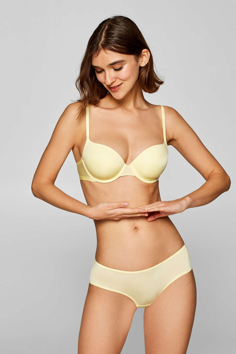 Esprit - Padded underwire bra in lemon yellow