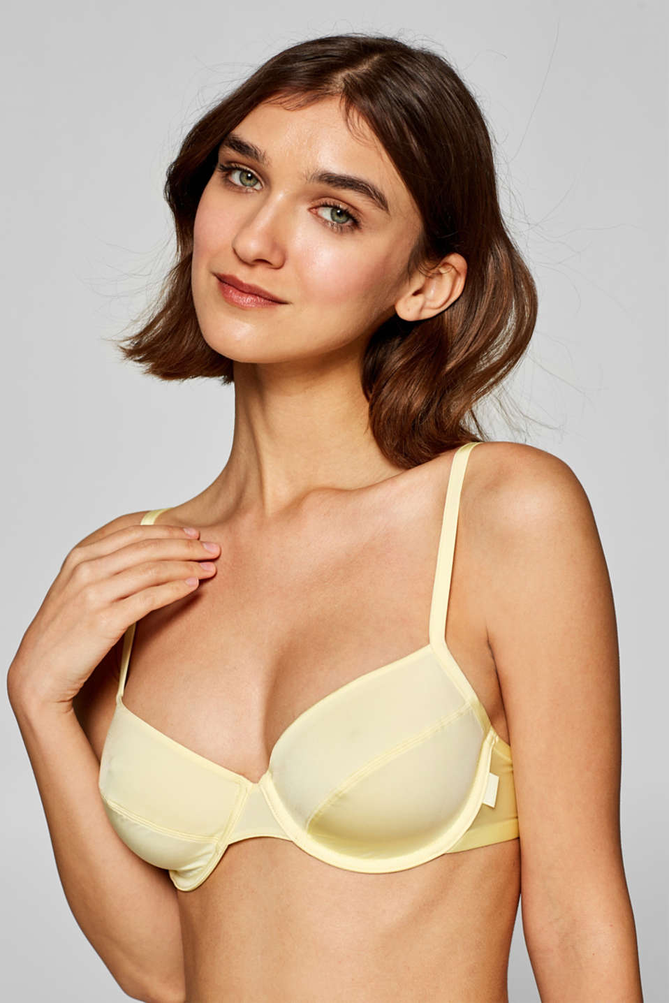Bras with wire, LIME YELLOW, detail image number 2