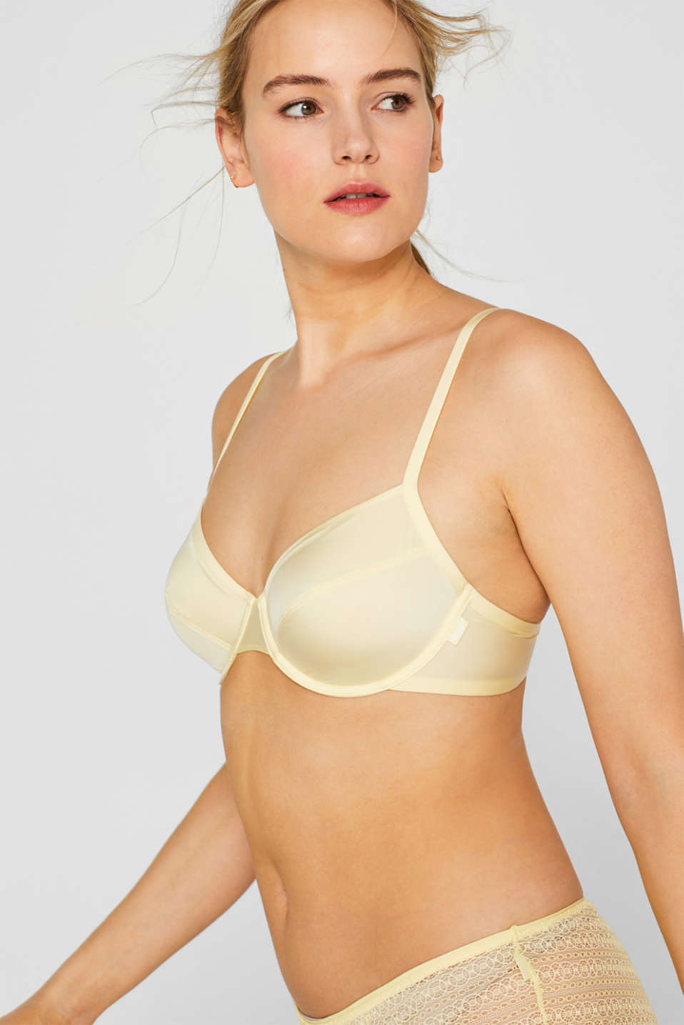 Bras with wire, LIME YELLOW, detail image number 4