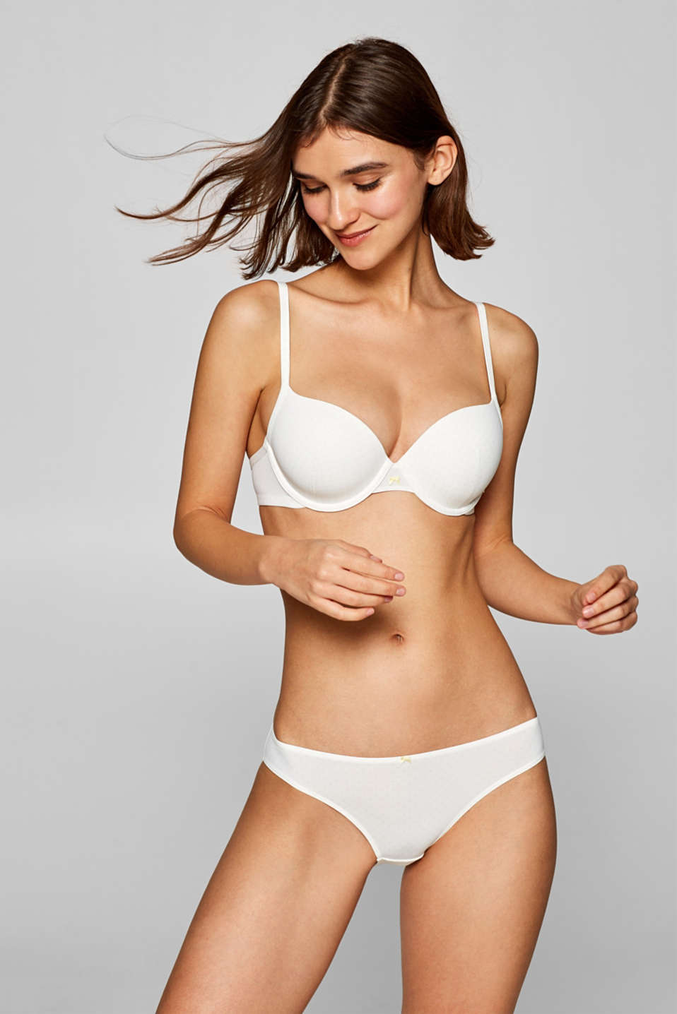 Esprit - Padded underwire bra with a delicate print