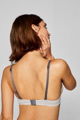 Padded underwire bra with a mini print