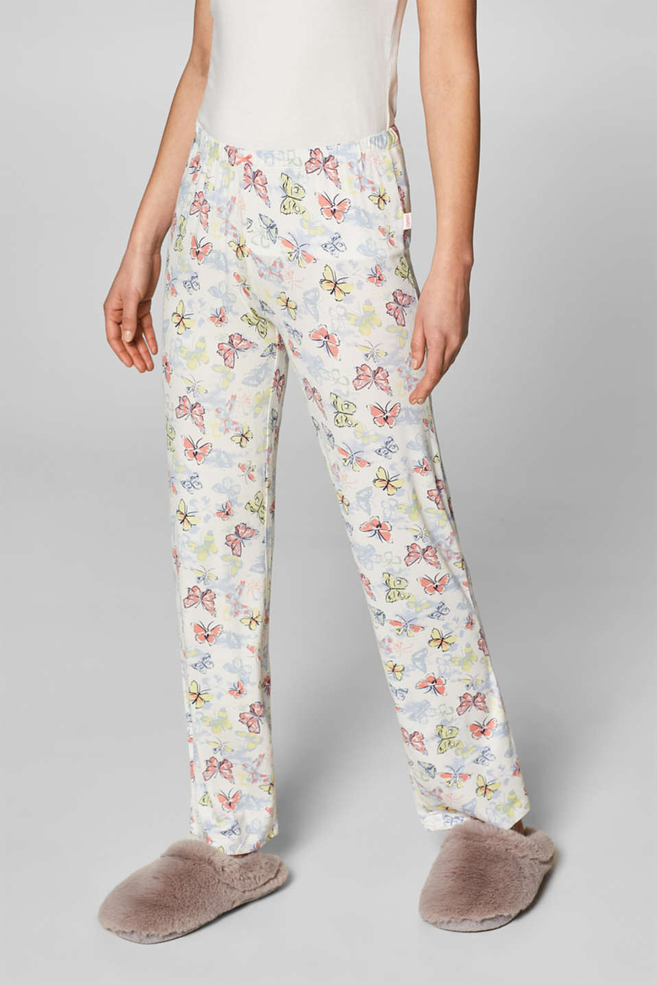 Esprit - Printed pyjama bottoms in stretch jersey