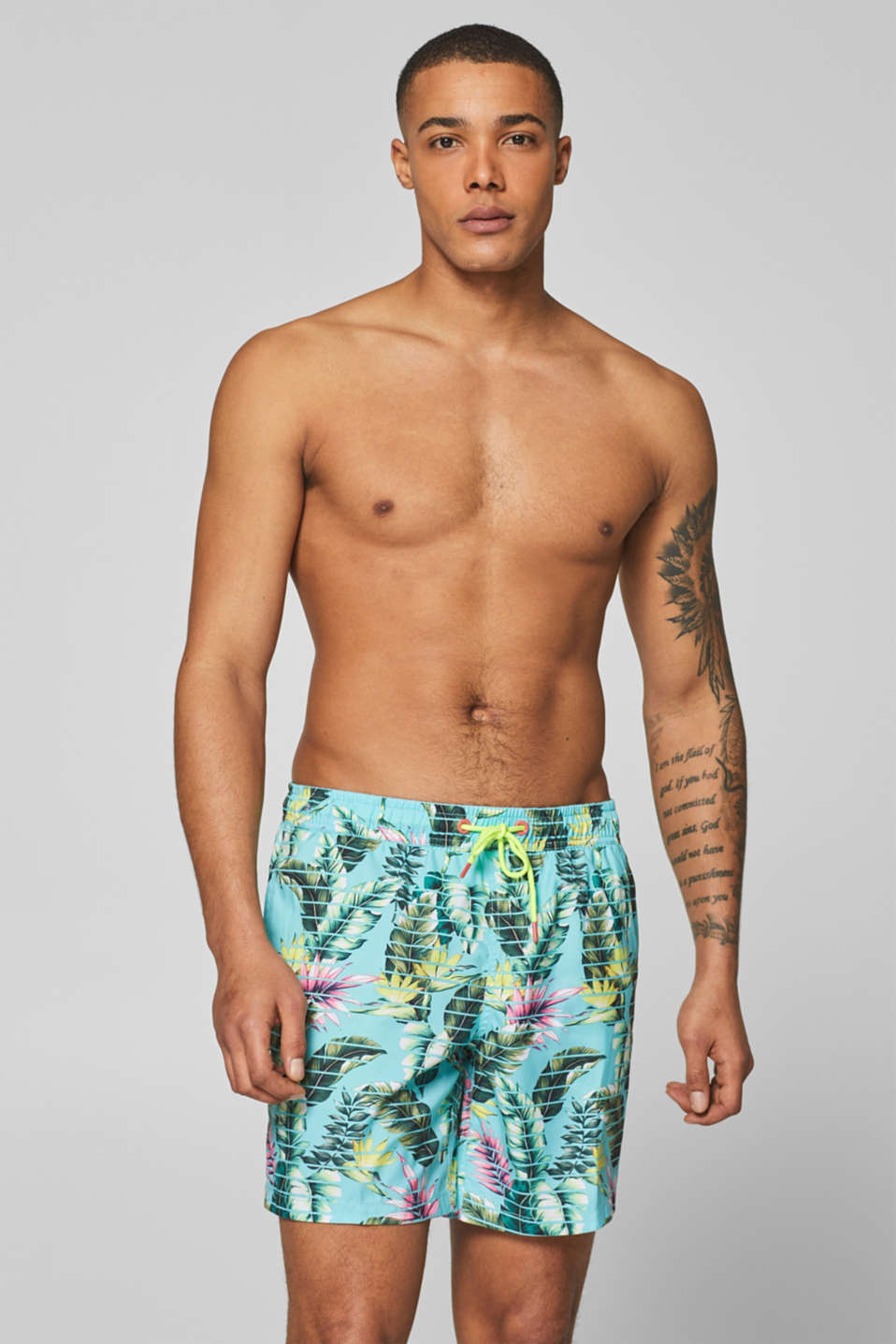 Esprit - Swim shorts with a palm tree print