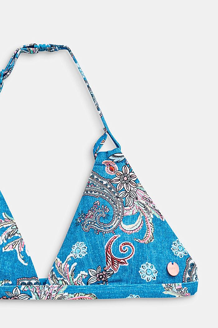 Neckholder-Bikini-Set mit Paisley-Print, DARK BLUE, detail image number 2