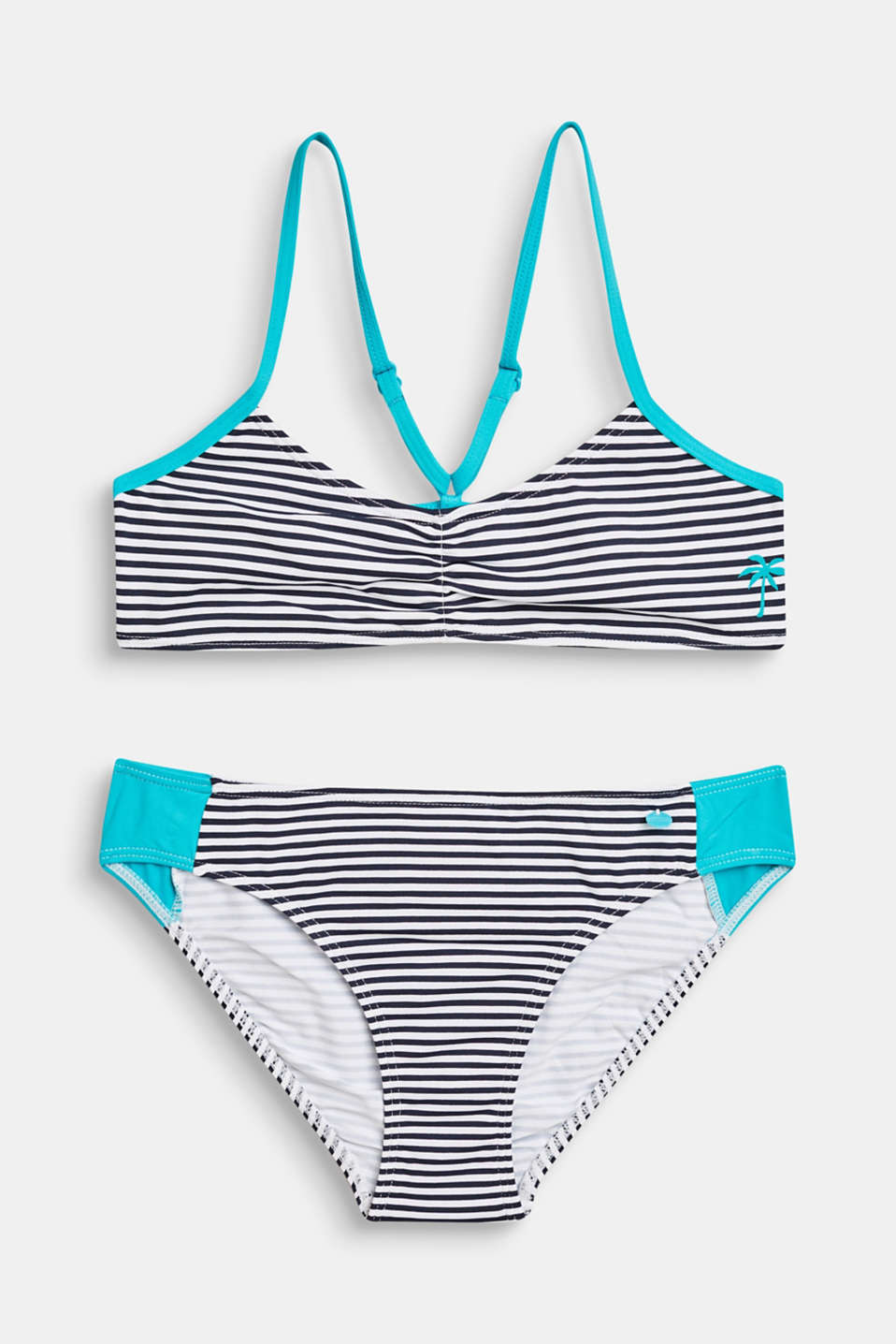 Striped crop top bikini