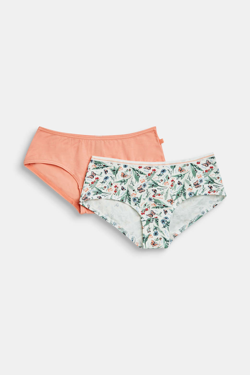 Esprit - Lot de 2 : shorty taille basse en jersey