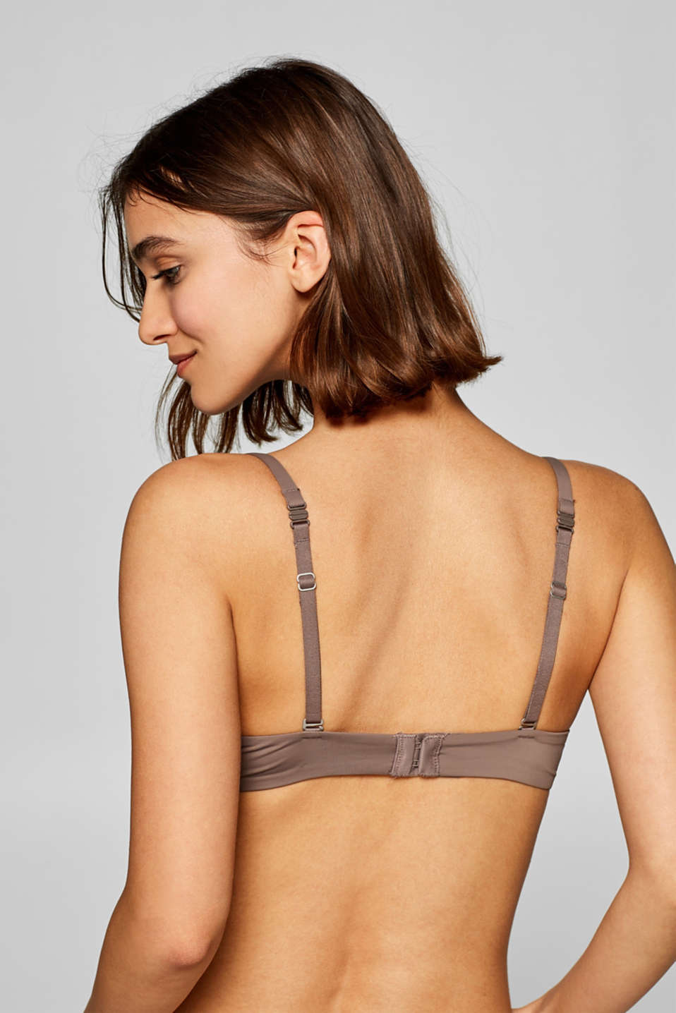 Bras with wire, TAUPE, detail image number 1
