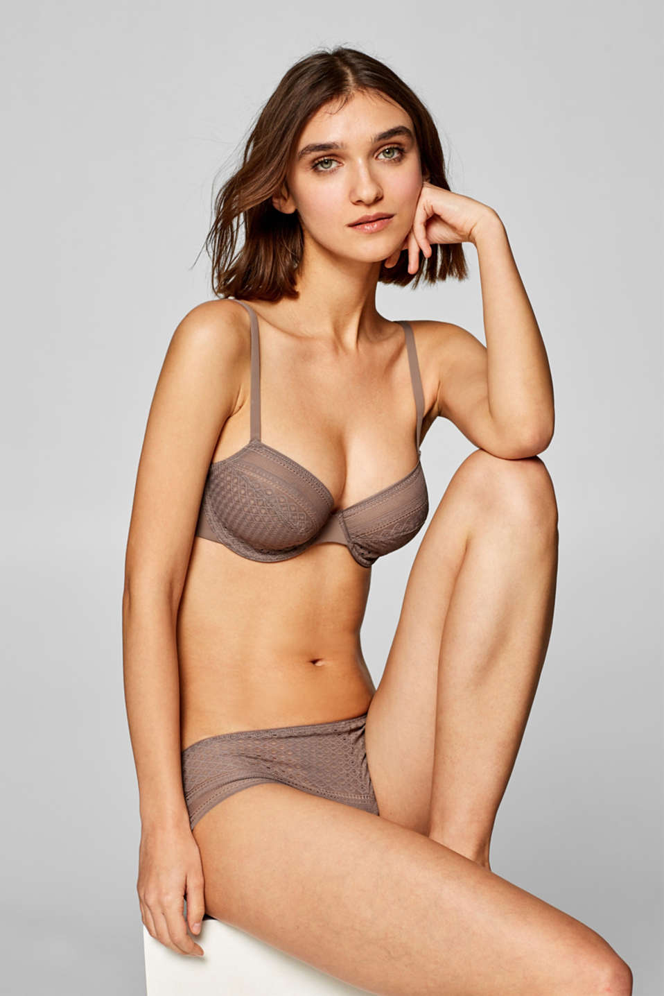Esprit - NYE unpadded bra with multi-way straps
