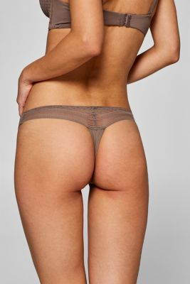 NYE hipster thong with lace details