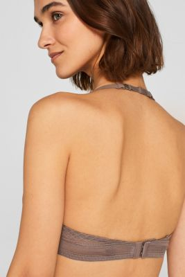 NYE padded underwire bra with lace details