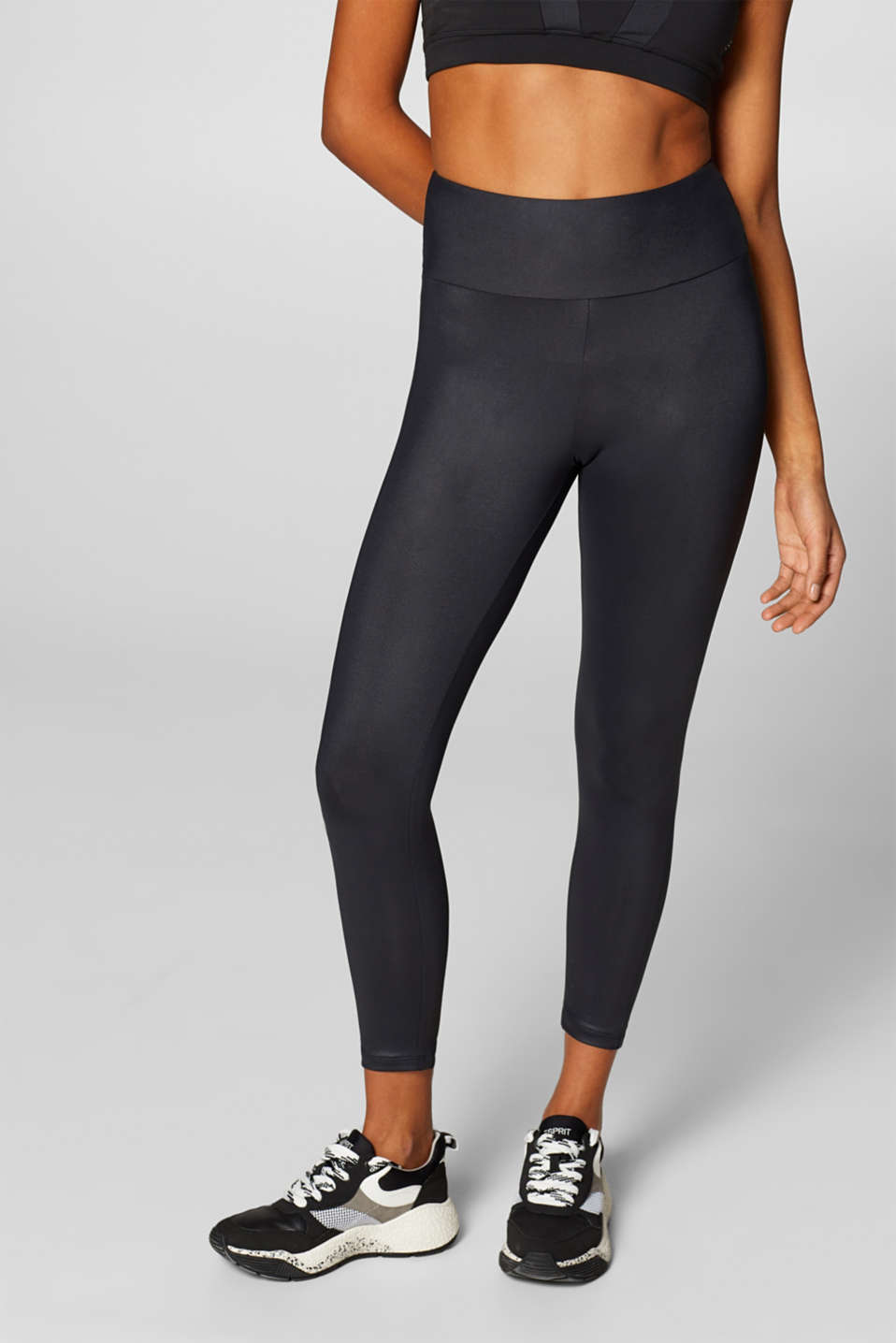 Esprit - Logo leggings with a subtle sheen, E-DRY