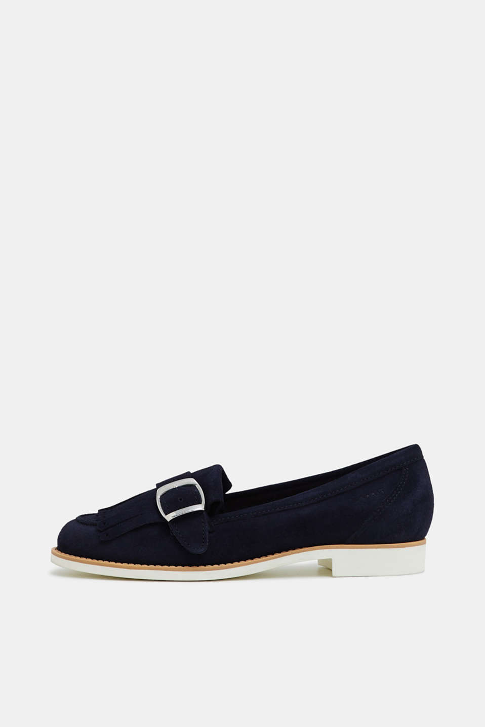 Esprit - Leather loafers a front fringe