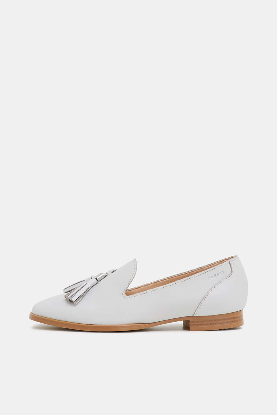 Esprit - Leather loafer with tassels
