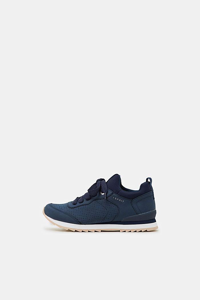 Sneakers i læderlook, NAVY, detail image number 0