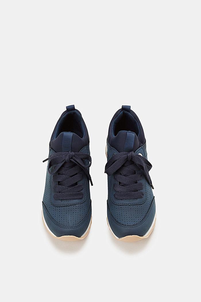 Sneakers i læderlook, NAVY, detail image number 1