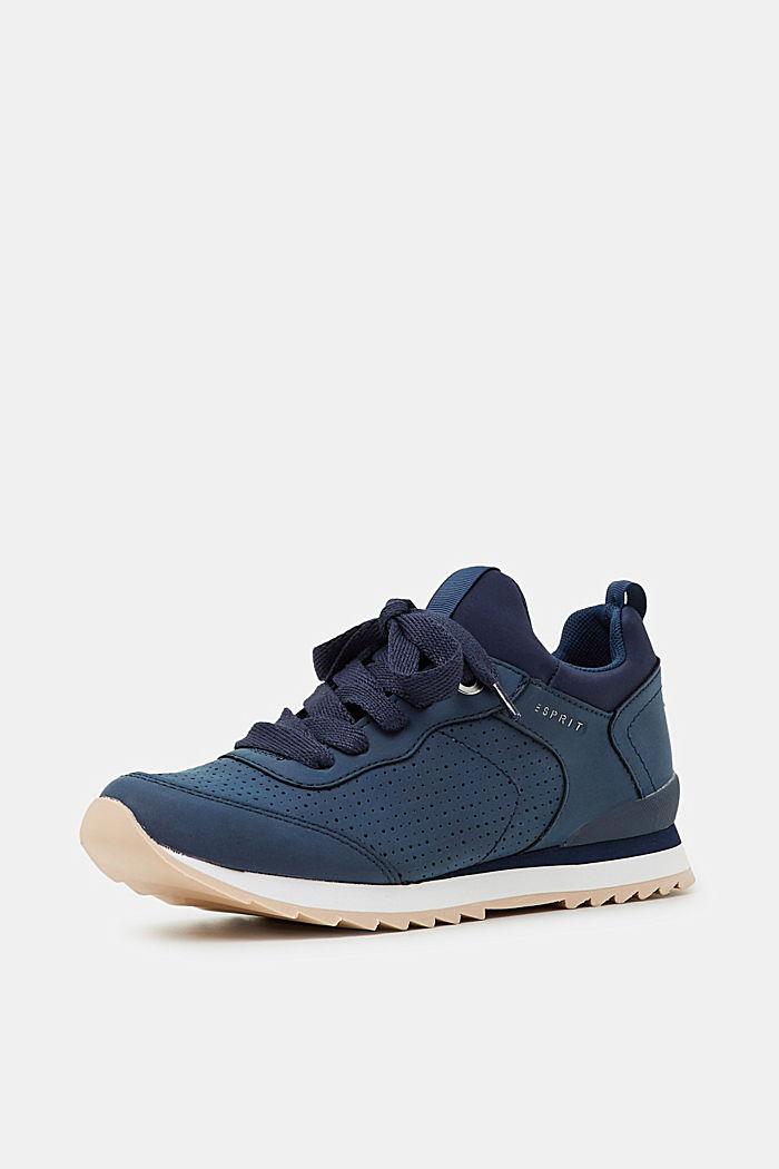 Sneakers i læderlook, NAVY, detail image number 2