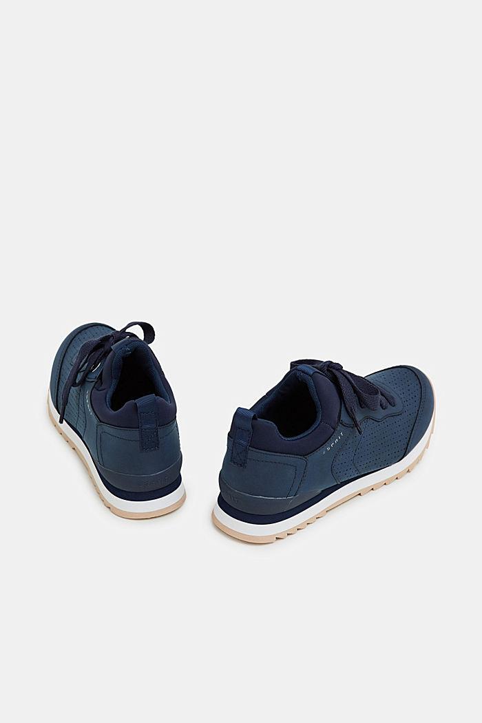 Sneakers i læderlook, NAVY, detail image number 4