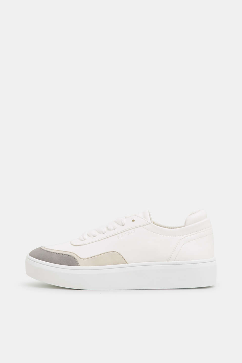 Trendy, faux leather trainers