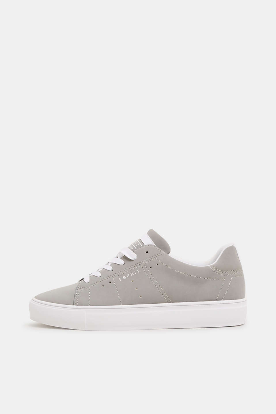 Esprit - Vegan faux nubuck leather trainers