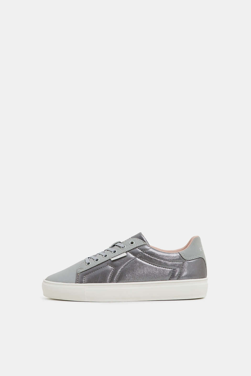 Esprit - Vegane sneakers med metallic-look