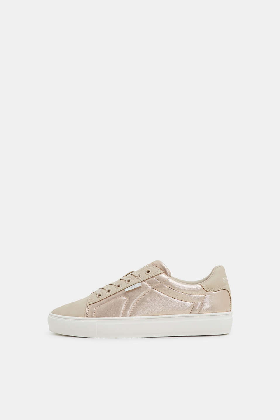 Esprit - Vegan metallic look trainers