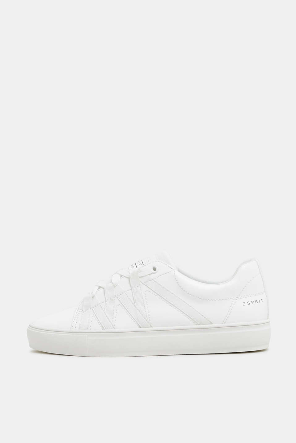 Esprit - Trendy material mix trainers